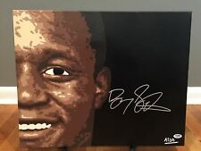 1/1 Barry Sanders Signed 16x20 Original Painting Detroit Lions COA 1 of 1!