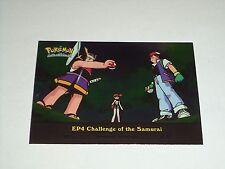 EP4 Challenge of the Samurai Foil Holo 2000 Topps Pokemon Series 2 Episode Card