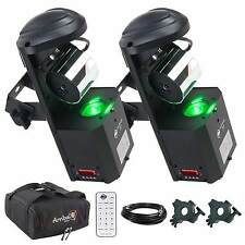 American DJ Inno Pocket Roll LED Barrel Scanner Pair + Bags + Clamps