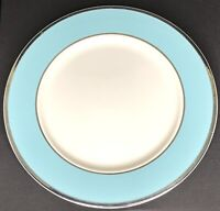 "VTG Taylor Smith Taylor Colonial ""PLATINUM BLUE"" 10 1/2"" Dinner Plate ~ EUC"