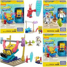 MEGA BLOKS SpongeBob SquarePants SANDY Larry Lobster bundle Wacky Surfing Gym