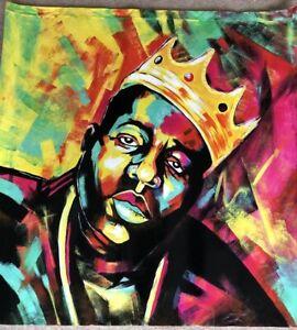 Biggie Smalls Notorious BIG 28in sq oil painting,framing avail.Tupac Hip Hop art