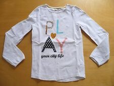 T-shirt  OKAIDI 10  ans  manches longues broderie sequins  fille