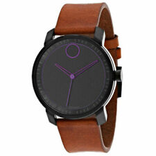 Movado 3600488 41mm Black Dial Brown Leather Strap Men's Watch