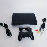 Sony Playstation 3 PS3 Slim Console 500GB & Black Wireless Controller CECH4202C