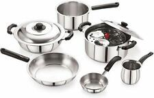 Lifestyle 9-Piece Stainless Steel Cookware Set, Silver Stylish Cookware