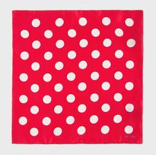 Paul Smith Pocket Square Handkerchief - NEW Silk White Polka Dot Red RRP:£50