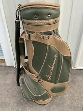 Rare Honma Green Faux Leather Cart Bag - 6-Way Divider, Single Strap - Very Good