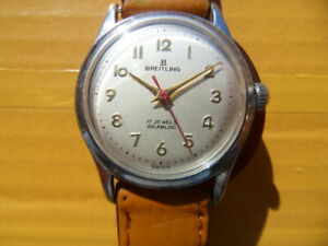 Vintage SWISS BREITLING 17 Jewels Manual Men's Watch,1950's
