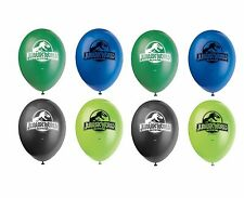 """8ct Unique Jurassic World Dinosaurs Birthday 12"""" Latex Balloons Party Supplies"""