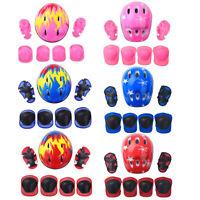 Inliner Knie-Schoner Protektoren-Set (7er) für Kinder Schutzausrüstung mit Helm