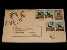 Vintage Cover,COLONIAL PORTUGAL,ANGOLA,1956, Multi-Stamped To Brookings,OR,X-Mas