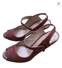 D&G Leather Sandals - Mary Jane  - New In Box- EUR 41- Very Pretty and Unusual!