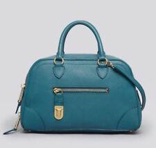 Marc Jacobs Venetia Grande Cartera Bolso Mano Cuero Pavo Real Verde Azulado