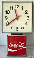 Coke Wall Clock Enjoy Coca Cola Vintage 1972 Ingress Plastene Model G012 Electri