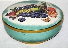 Vintage West Germany Candy Tin Colorful Fruit Print