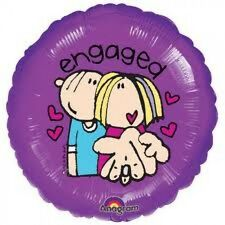 """Anagram Bang on The Door Engagement Congratulation Foil Helium Balloon 18"""" X 10"""
