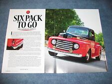 """1949 Ford F-1 Short Bed Pickup Truck Article """"Six Pack To Go"""""""