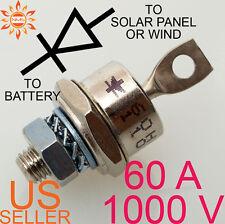 60A 1000V BLOCKING DIODE WIND GENERATOR SOLAR PANEL 60 AMP PANELS TURBINE STUD A