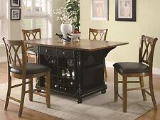 Elegant Black Kitchen Island Cart Dining Table Kitchen Diningroom Furniture