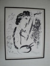 """Marc Chagall """"In Front Of A  Picture"""" Lithograph Framed"""