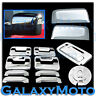 04-08 F150 Chrome HALF Mirror+4 Door Handle+no keypad+keyhole+Tailgate+Gas Cover