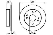 NEW HONDA ACCORD IV V 89-98 AERODECK COUPE REAR BRAKE DISCS 42510-SM4-950 DSK922