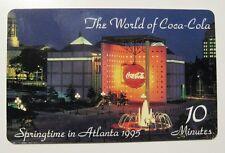 Coca Cola Premier Edition $10 Phone Card - World of Coca Cola -LMT 560/2500-1995
