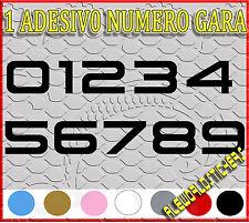 ADESIVO 12 cm NUMERO gara CORSA MOTO GP CROSS Stickers VINILE RACING TUNING F7