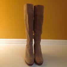 Michael Kors Regina Khaki Beige Suede Tall Over The Knee Women Boots 9.5M