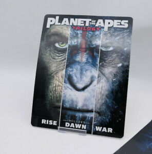 PLANET OF THE APES TRILOGY - Glossy Steelbook Magnet Cover (NOT LENTICULAR)