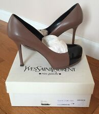 YVES SAINT LAURENT  YSL  PLATFORM PUMP Sz 39 New With Box