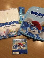 The Smurfs The Lost Village Gift Pack Backpack Shirt Slapband Activity Pack New