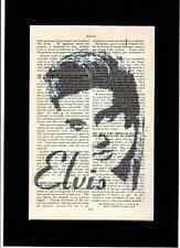 ELVIS PRESLEY Vintage Encyclopedia Art Print Upcycled & Unique