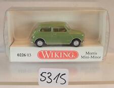 Wiking 1/87 Nr. 0226 03 Morris Mini Minor resedagrün OVP #5315