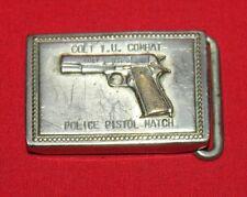 Colt Firearms Factory 1911 I.U. Combat Police Pistol Match Belt Buckle 1960 RARE