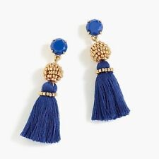 New$29.50 Dark Harbor �� With Bag! J.Crew Bead And Tassel Earrings! Sold Out!