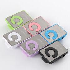 LETTORE MEMORIA SD PLAYER MUSICALE MP3 CLIP MINI USB NERO ROSA VERDE ny