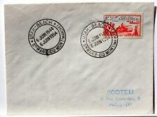 Yt 983 WW2 UTAH BEACH  DEBARQUEMEMENT  OBLI 1° JOUR 1954 FDC FRANCE ENVELOPPE
