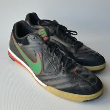 innovative design 2b2dd a1146 Nike 5 Men s Gato 415123-030 Indoor Soccer Shoes Black Green  Red Swoosh