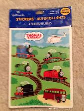 Thomas The Tank Engine & Friends Hallmark Vintage 4 Sheets In Pkg  Stickers!