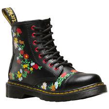 Dr.Martens 1460 Pooch Flower J T Lamper Leather Floral Ankle Kids Boots