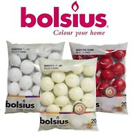 Premium Bolsius Floating Candles White, Ivory & Red - Per Pack 20 Candle