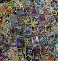 Pokemon Card Lot 100 Bulk TCG Cards+Ultra Rare+Many Holos Included*NO ENERGIES*