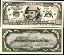 Al Capone $100,000 Dollar Bill Collectible Fake Play Funny Money Novelty Note