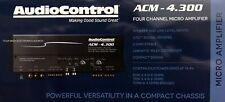 NEW Audio Control ACM4.300 Compact 4 Channel Class-D Car Amplifier, 2 Ohm Stable