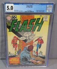 THE FLASH #123 (Earth-II, Jay Garrick 1st SA app) CGC 5.0 VG/FN DC Comics 1961