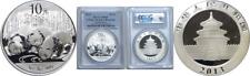 2013 China 10 Yuan Silver Panda PCGS MS69 Spots/Toning