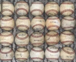 Lot of 20 Used Baseballs Quality All Leather  Little League NFHS Babe Ruth
