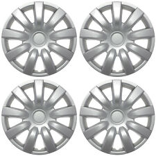 """4 Pc of 15"""" Inch SILVER Hub Caps (With Metal Clips) Covers for Steel Wheel Cap"""